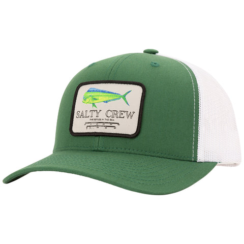 Mahi Mount Green/White Retro Trucker