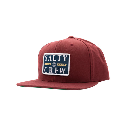 Boatyard Burgundy 6 Panel