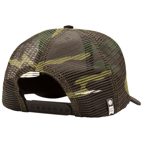 Pinnacle Black/Camo Retro Trucker