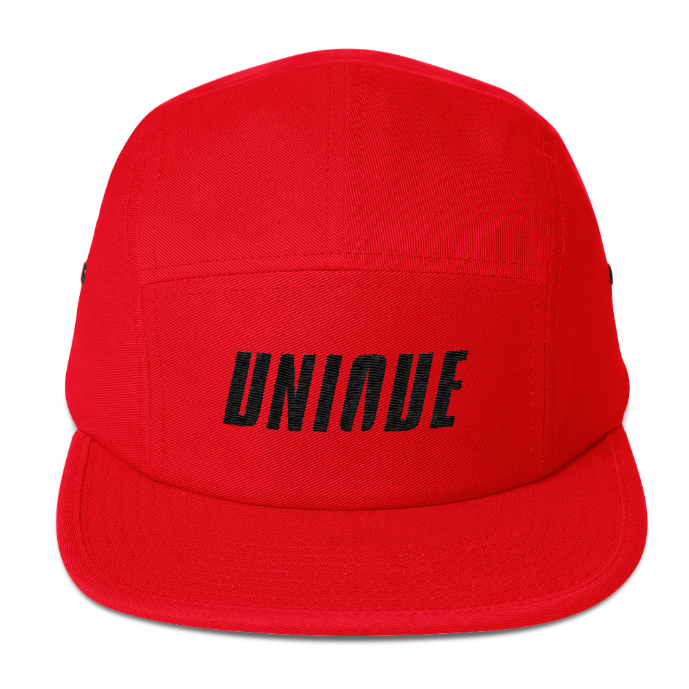 Unique Five Panel Cap Red