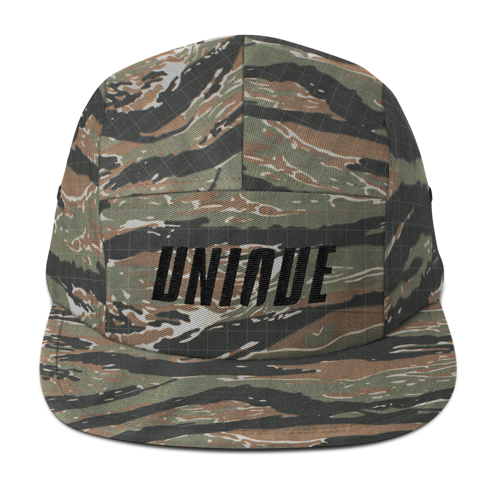 Camo Unique Five Panel Cap