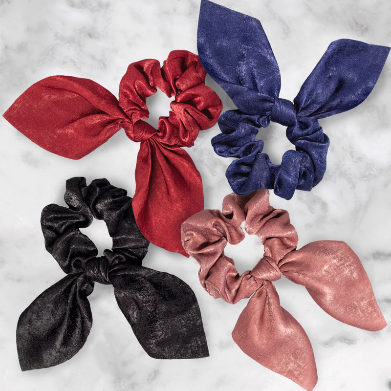 Satin Bow Scrunchie