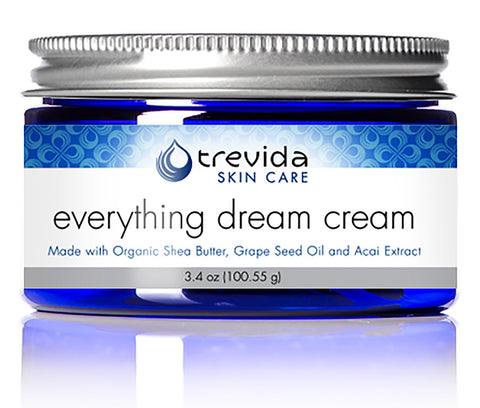 Trevida Certified USDA Organic Everything Dream Cream - Anti-Aging - Sensitive Skin Moisturizer - Anti-Wrinkle All Natural - Extreme Hydration - Grape Seed Oil & Acai Extract