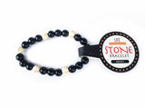 SAFETY (Black Agate Stone Bracelet)