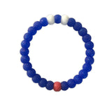 Blue Glitter (Red, White & Blue Bracelet)