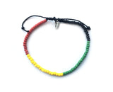 Love Life - Beaded Bracelet (Red, Green, Yellow & Black)