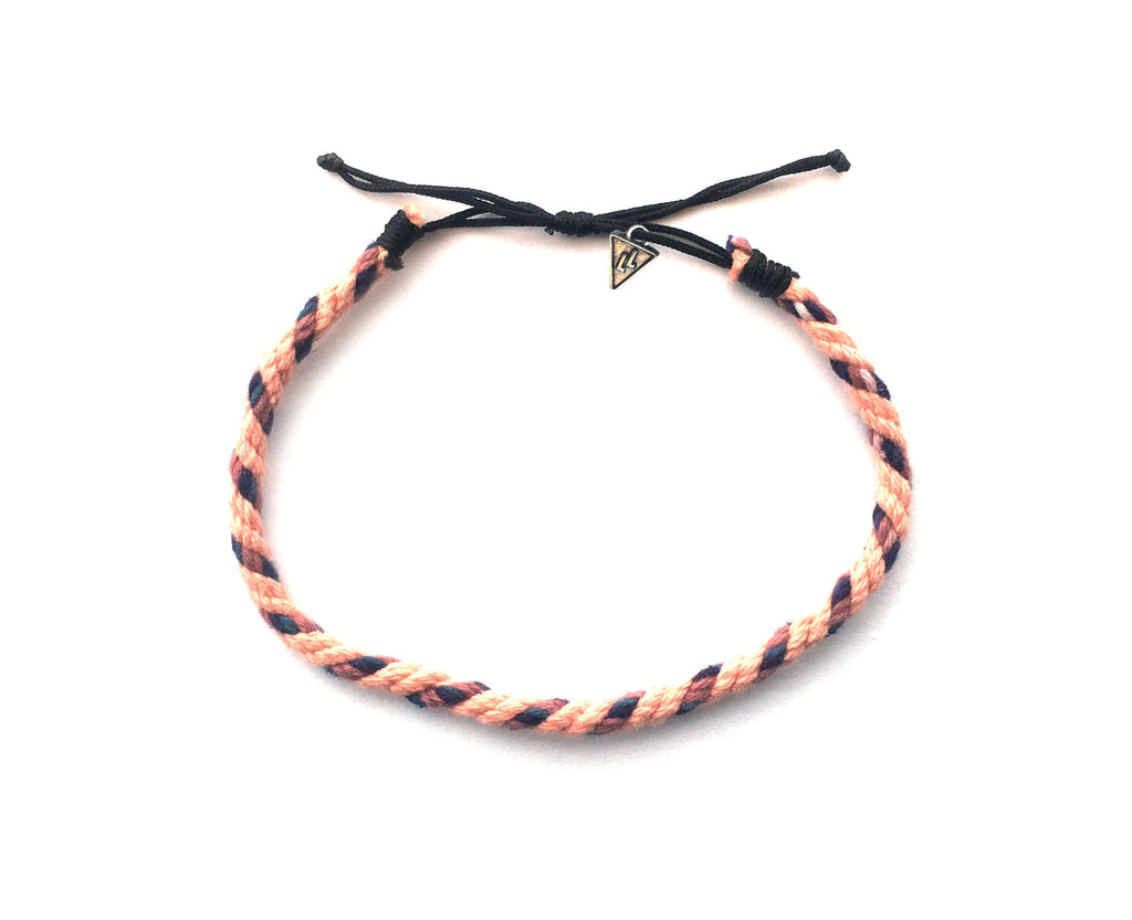 Love Life - Rope Bracelet (Tan, Purple, Brown)