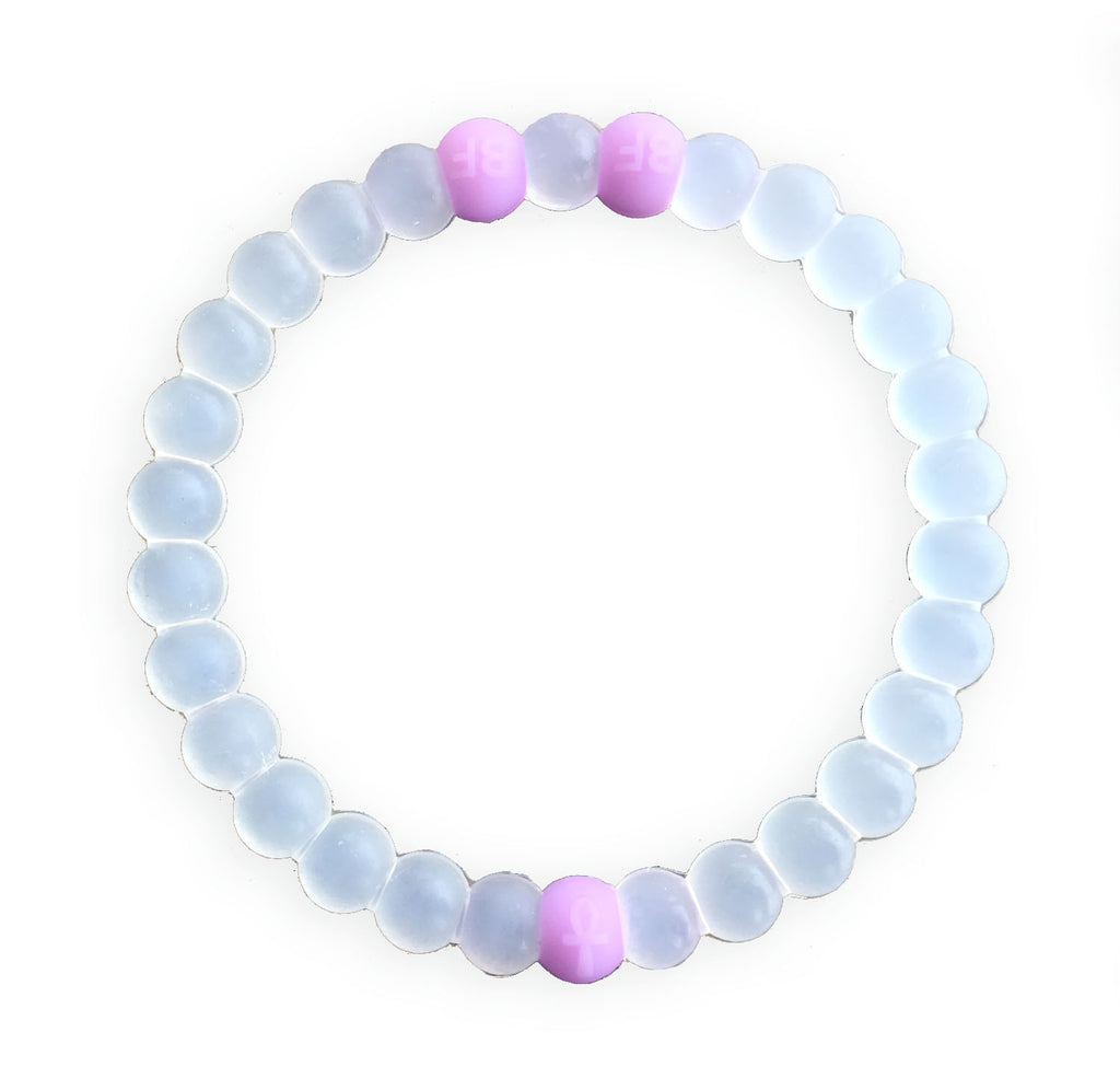 CLEAR/PURPLE BEST FRIENDS BRACELET