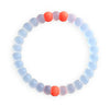 CLEAR/ORANGE BEST FRIENDS BRACELET