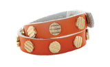 ORANGE LEATHER WRAP BRACELET