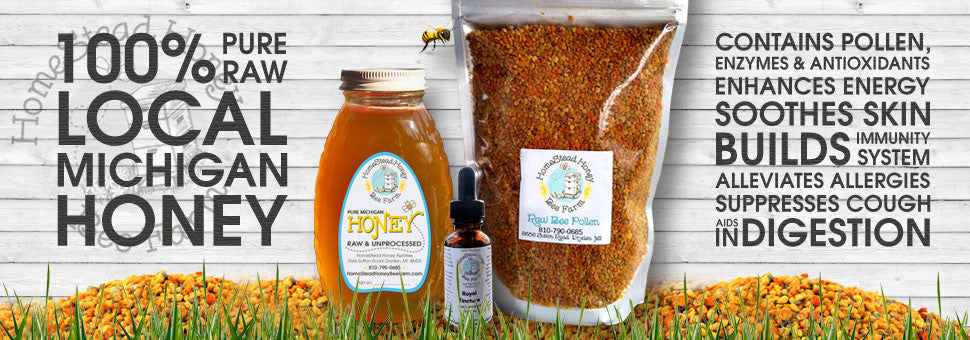 100% Pure Raw Local Michigan Healthy Honey