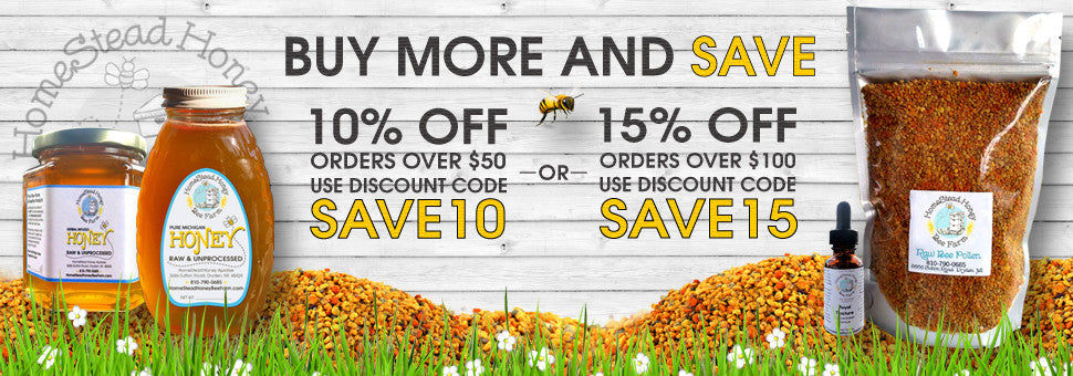 Spring Savings 10% over $50 or 15% over 100
