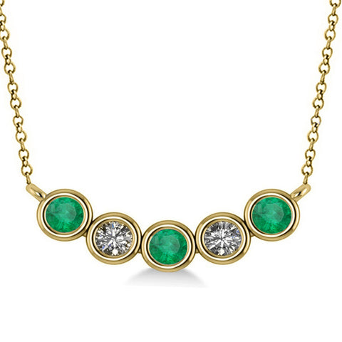 Emerald Birthstone Necklace Allurez