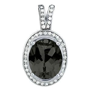 Oh the Night Halo Oval Pendant