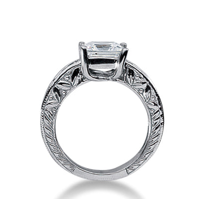 14k Princess Cut Engagement Ring - T'rente Fine Jewelry