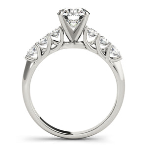 Oh the Night Prong Set Single Row Engagement Ring - T'rente Fine Jewelry