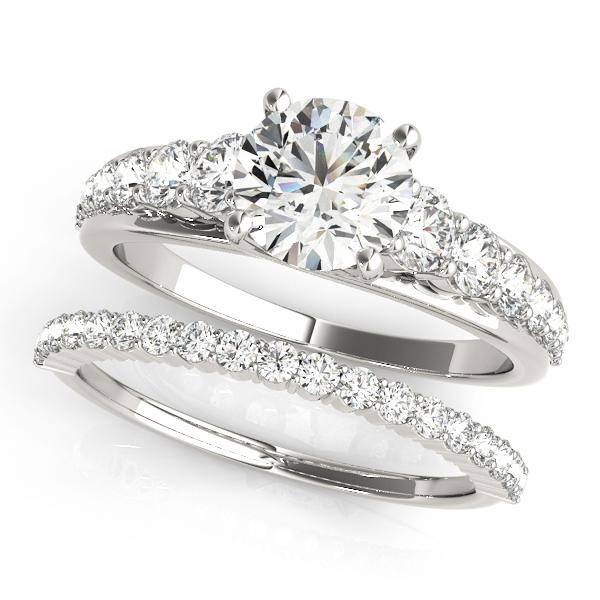Oh the Night Prong Set, Single Row and Trellis Engagement Ring