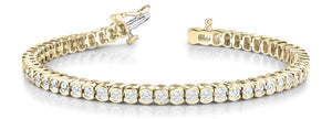 Bracelet in 14 Karat Gold and Diamond
