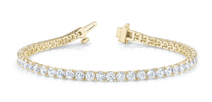 Bracelet in 14 Karat Gold and Diamond - T'rente Fine Jewelry