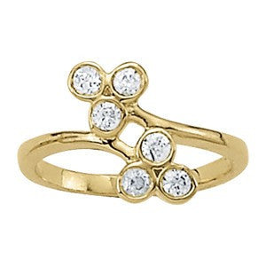 Fashion Ring in 14 Karat Gold and Diamonds