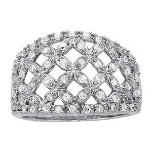 Fashion Ring in 14 Karat Gold and Diamonds - T'rente Fine Jewelry