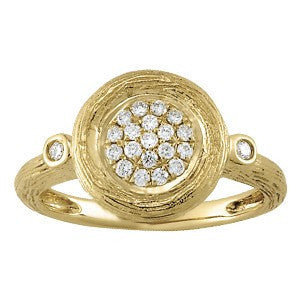 Bohemè Ring In 14 Karat Gold and Diamonds