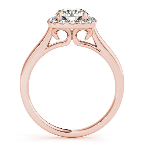 Oh The Night 14k Halo New Style Engagement Ring - T'rente Fine Jewelry