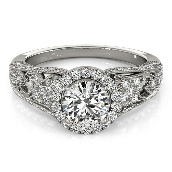 Oh the Night Halo Antique Engagement Ring