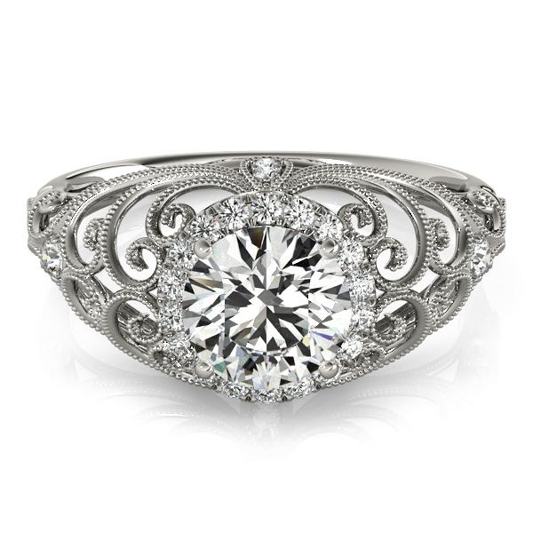 Oh the Night Antique Halo Engagement Ring