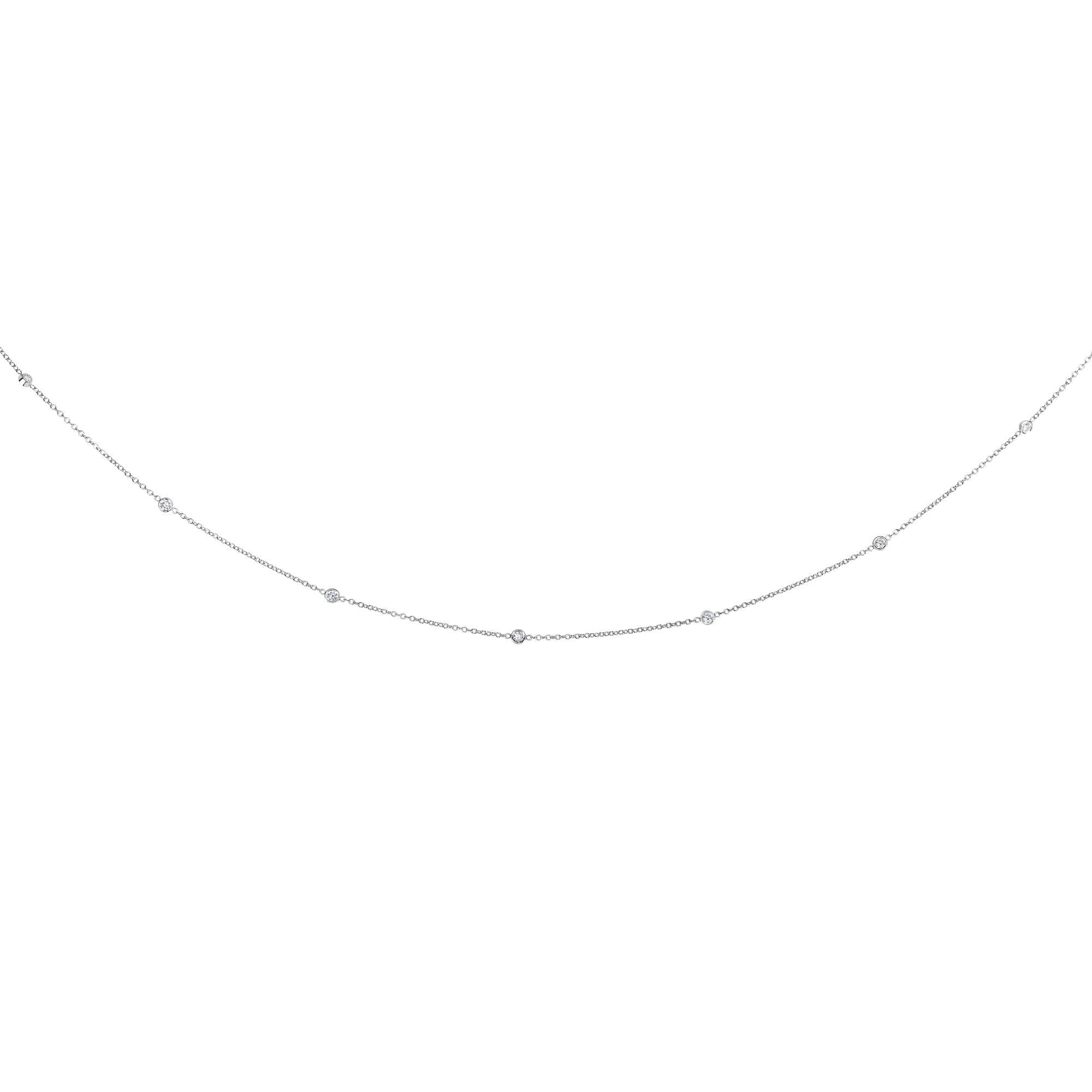 "14kt White Gold 18"" 0.25ct Necklace ""Diamond by the Yard"""