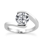 Solitaire Engagement Ring in 14 Karat Gold - T'rente Fine Jewelry