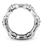Bezel Set Floral Collection Eternity/Anniversary 14K White Gold Band