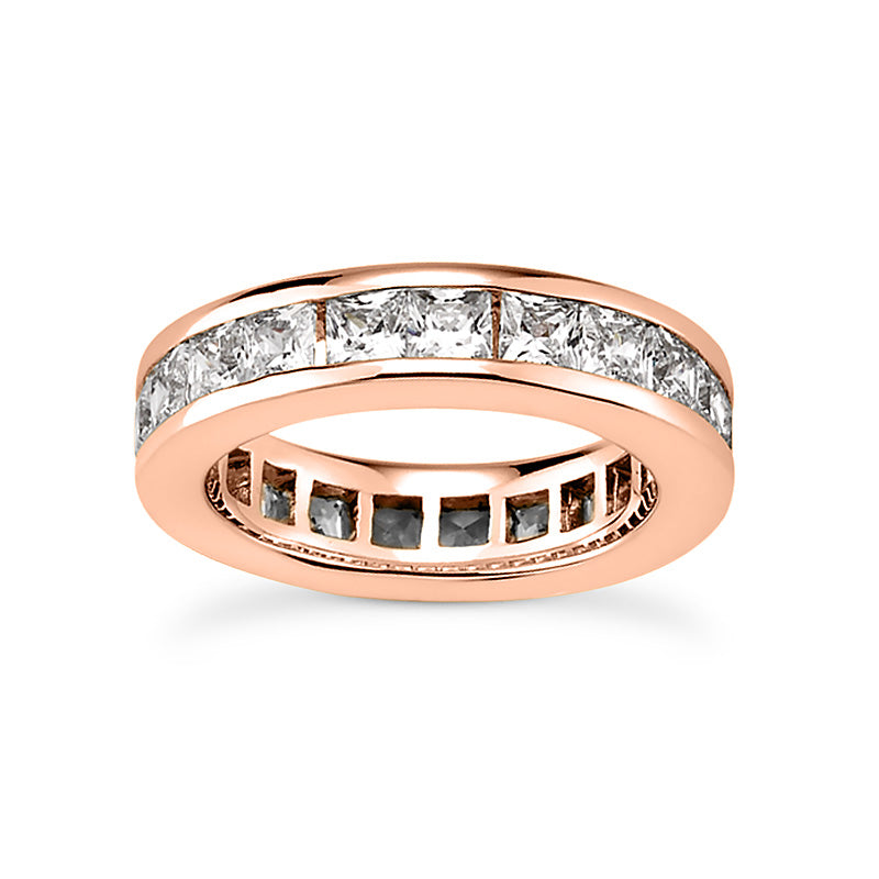 Princess Cut Eternity Stackable 14K White Gold Anniversary Band