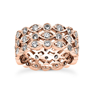 Eternity Fashion Ring in 14 Karat Gold and Diamonds