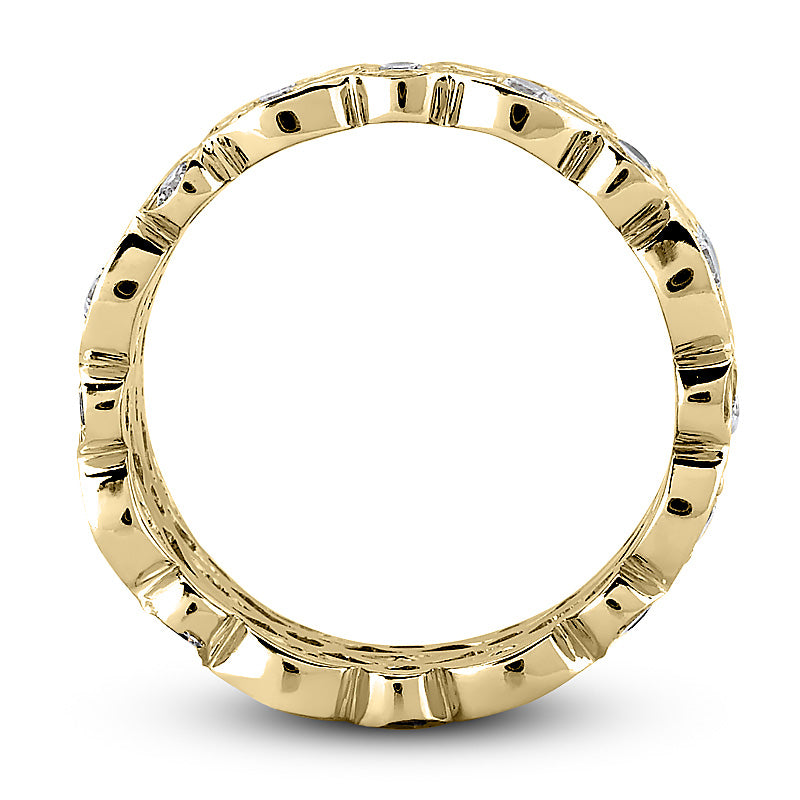 Eternity Three Row Ring in 14 Karat Gold and Diamonds