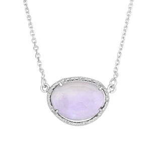 Amethyst & Diamonds Necklace