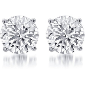 14K Gold Diamond Stud Earrings