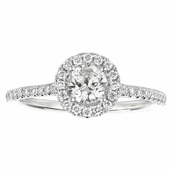 Micro-Pave Engagement Ring in 14 Karat Gold and Diamonds