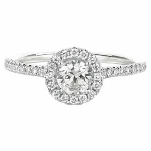 Micro-Pave Engagement Ring in 14 Karat Gold and Diamonds - T'rente Fine Jewelry