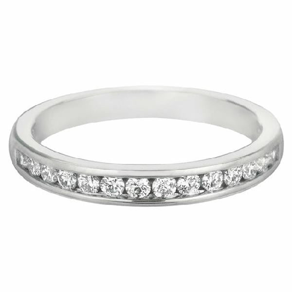 BAND 14KT WHITE GOLD and Diamonds