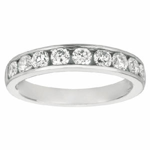 Channel Set Band in 14 Karat White Gold and Diamonds - T'rente Fine Jewelry