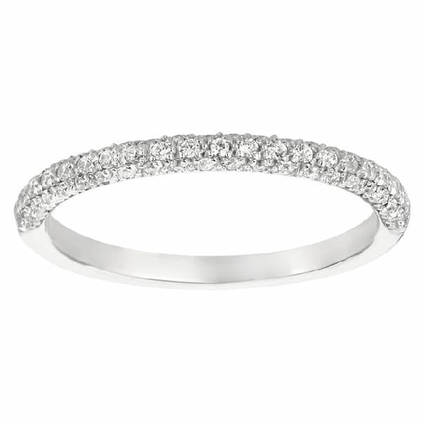Three-Sided Band in 14 Karat Gold and Diamonds