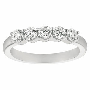 WEDDING BAND 14KT WHITE GOLD