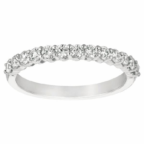 Shared Prong Band in 14 Karat White Gold and Diamonds