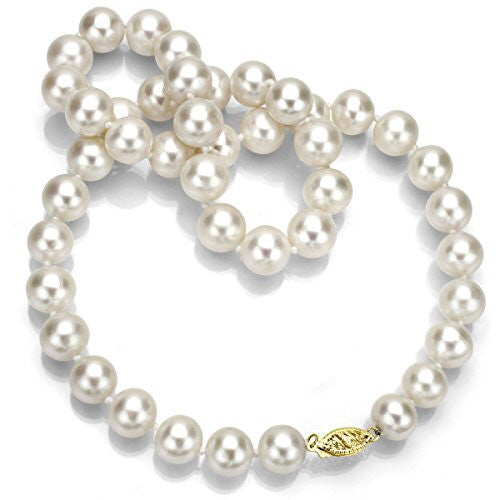 String Of Pearls With 10k YELLOW GOLD Clasp