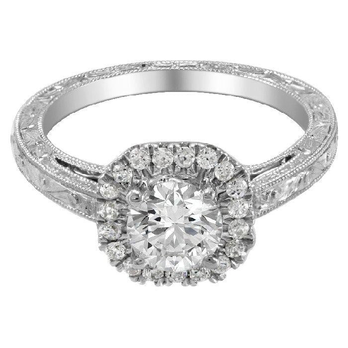ENGAGEMENT RING 14KT GOLD and diamonds