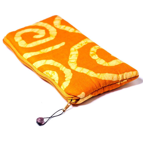 Batiked Clutch Purse - Yellow - World Peaces (P)