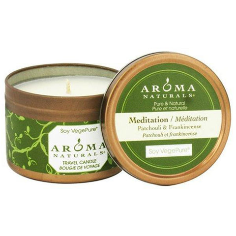 AROMA NATURALS MEDITATION WHITE SMALL TIN
