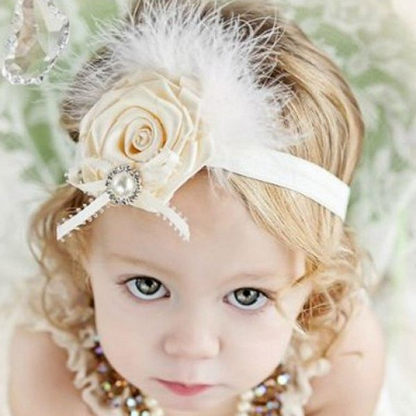 Girls Cute Rhinestone Embellished Flower Headband Girls - The TOI Store