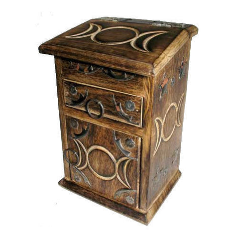 Beautiful Hand-carved Apothecary Herb Chest - The TOI Store - 4